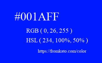Color: #001aff
