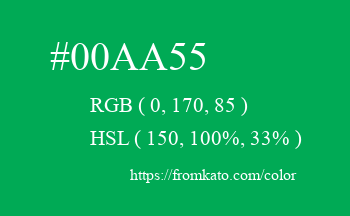 Color: #00aa55