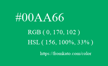 Color: #00aa66