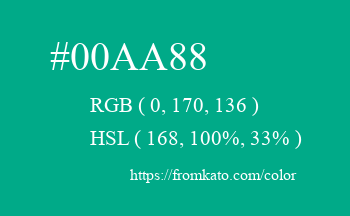 Color: #00aa88