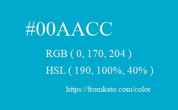 Color: #00aacc