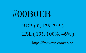 Color: #00b0eb