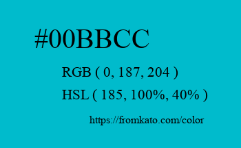 Color: #00bbcc