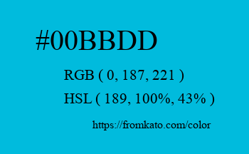 Color: #00bbdd