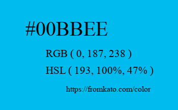 Color: #00bbee