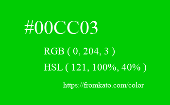 Color: #00cc03