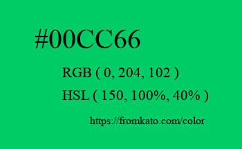 Color: #00cc66