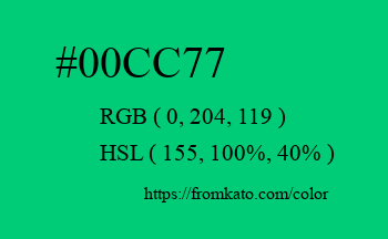 Color: #00cc77