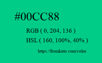 Color: #00cc88