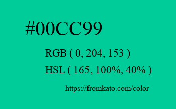 Color: #00cc99
