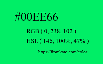 Color: #00ee66