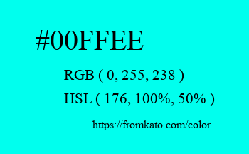 Color: #00ffee
