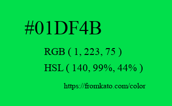 Color: #01df4b