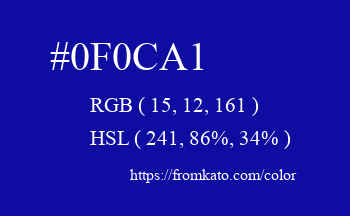 Color: #0f0ca1