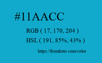 Color: #11aacc