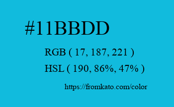 Color: #11bbdd