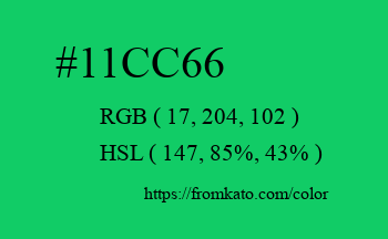 Color: #11cc66