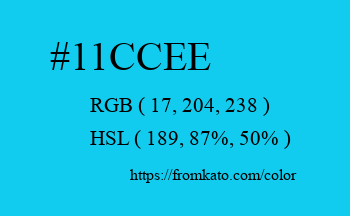 Color: #11ccee