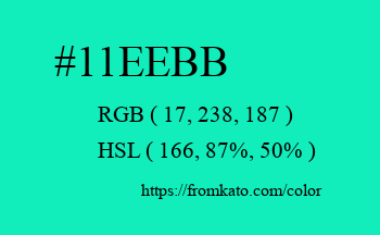 Color: #11eebb