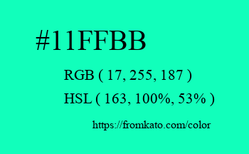 Color: #11ffbb