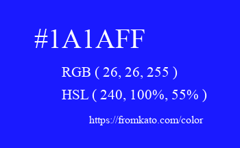 Color: #1a1aff