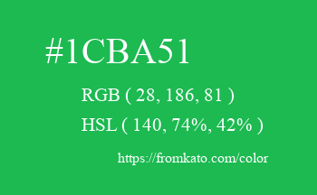 Color: #1cba51