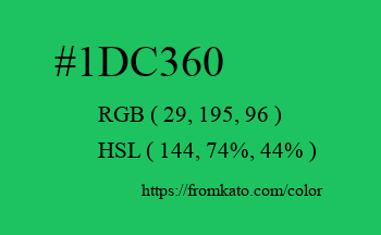 Color: #1dc360