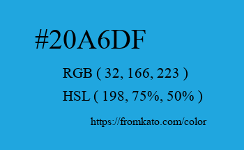 Color: #20a6df