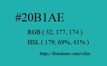 Color: #20b1ae