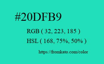 Color: #20dfb9