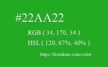 Color: #22aa22