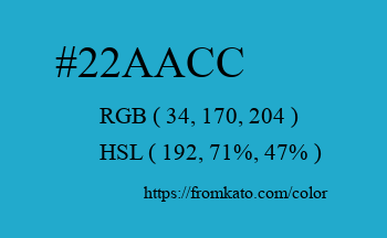 Color: #22aacc
