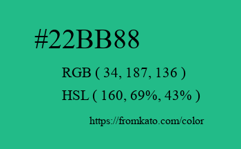 Color: #22bb88