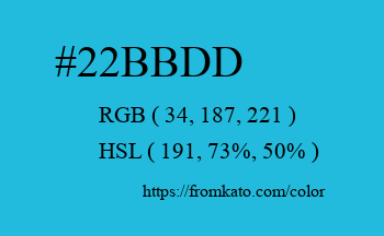 Color: #22bbdd
