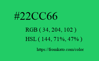 Color: #22cc66