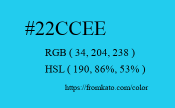 Color: #22ccee