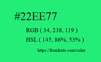 Color: #22ee77