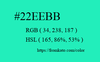 Color: #22eebb