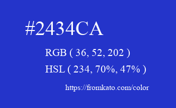 Color: #2434ca