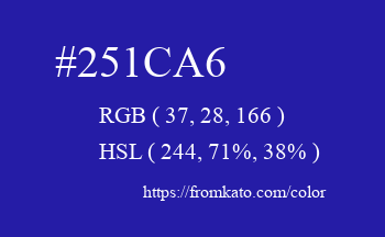 Color: #251ca6