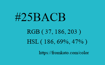 Color: #25bacb