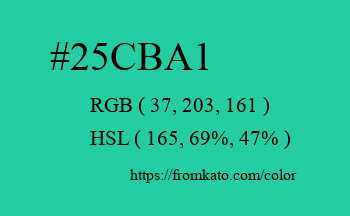 Color: #25cba1