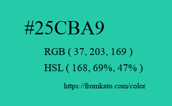 Color: #25cba9
