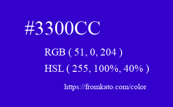 Color: #3300cc
