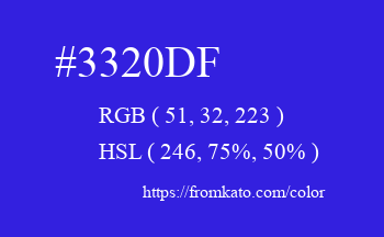 Color: #3320df