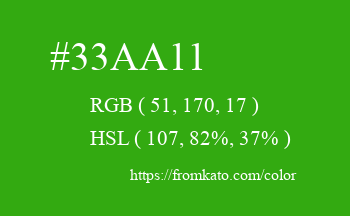 Color: #33aa11