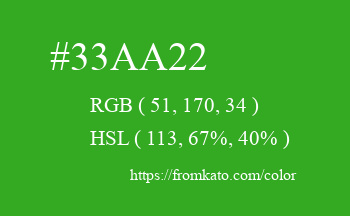 Color: #33aa22