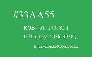 Color: #33aa55