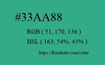 Color: #33aa88