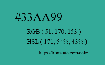 Color: #33aa99
